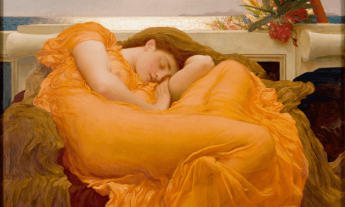 Frederic Leighton, Flaming June 1895 (Detail)