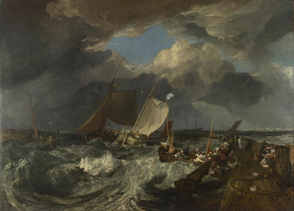 Calais Pier (1803), by JMW Turner.