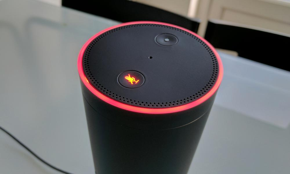 An Amazon Echo voice assistant
