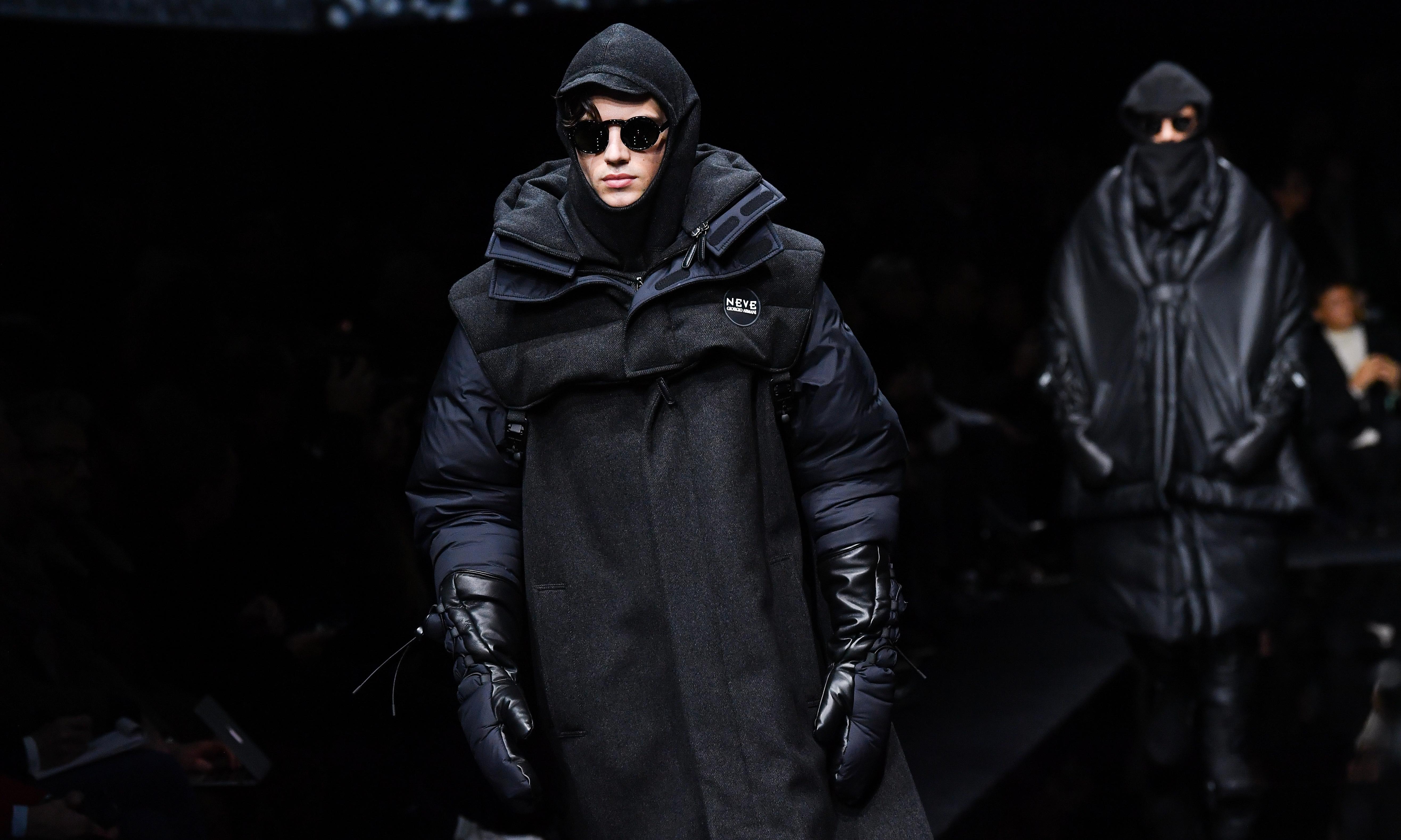 Giorgio goes gorpcore: Armani channels The Matrix in Milan