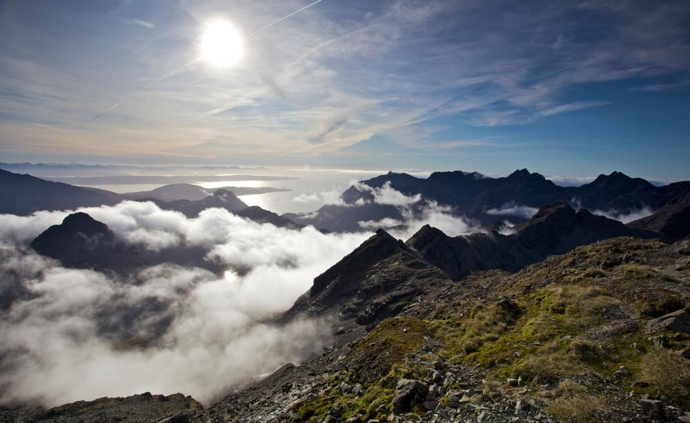 Seven miles of mountains … a view of the mighty ridge from the summit of Bruach na Frithe, more than 3,000ft up.