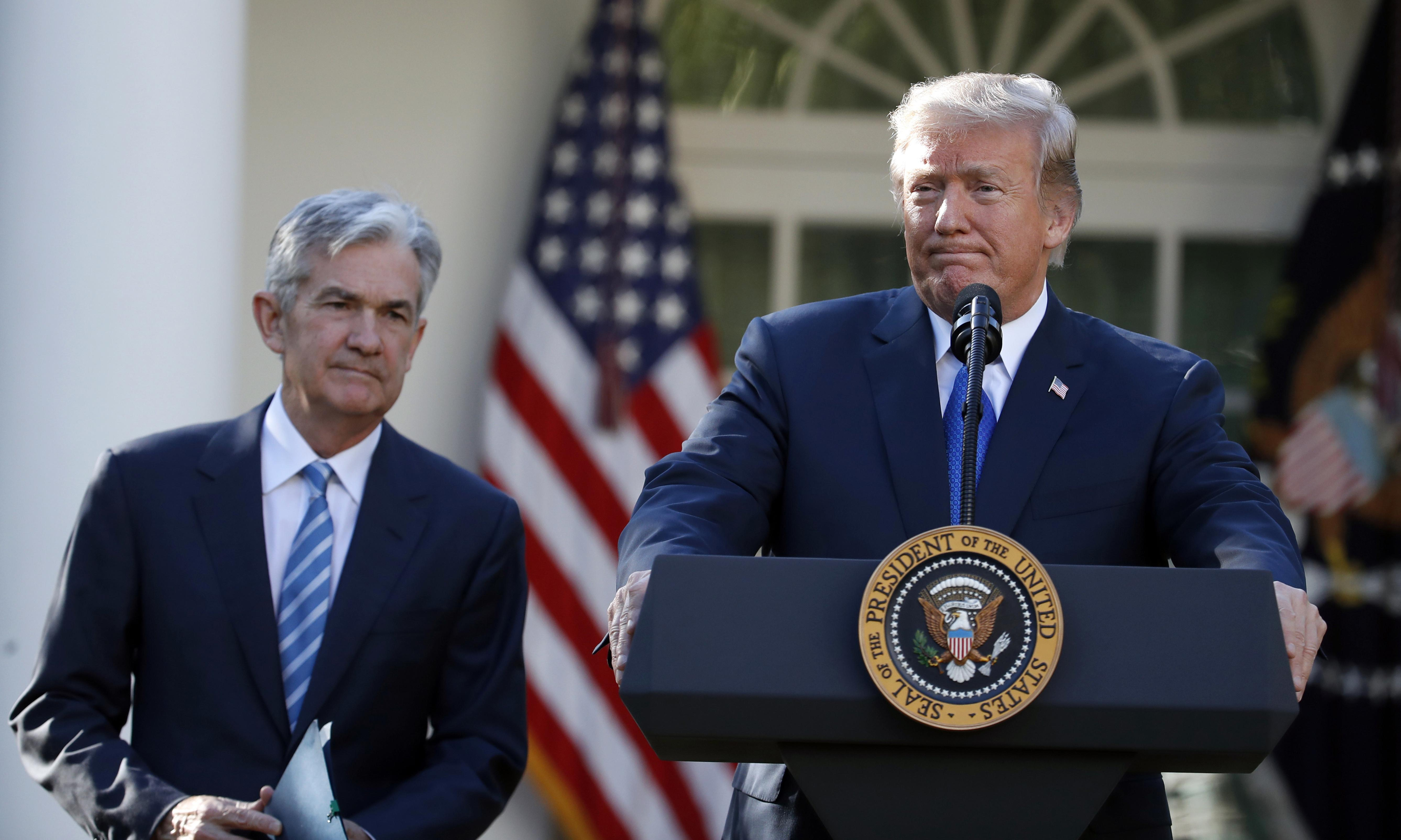 Trump criticises Fed chairman Powell for trying to be 'tough'