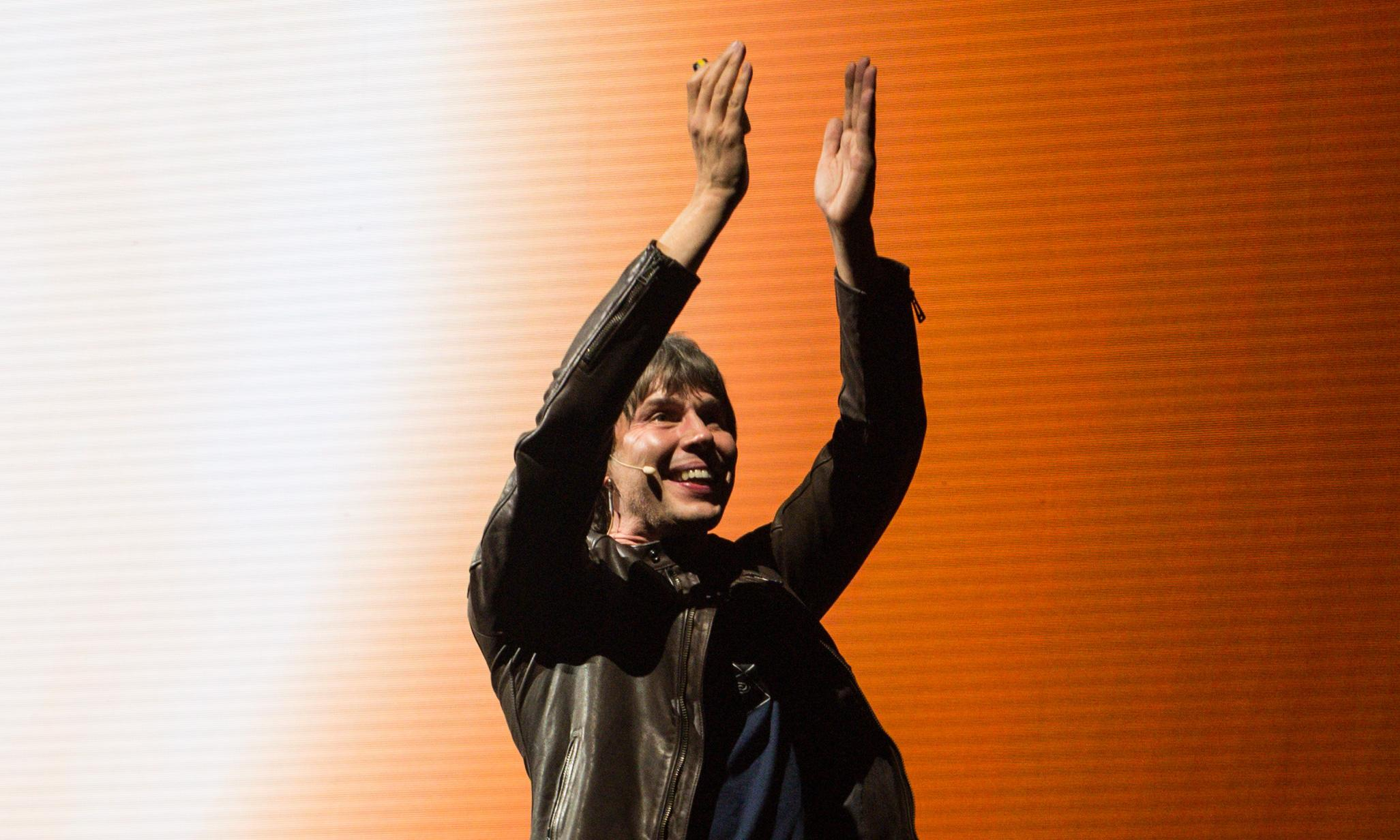 Professor Brian Cox review – science and hair combine in arena spectacular