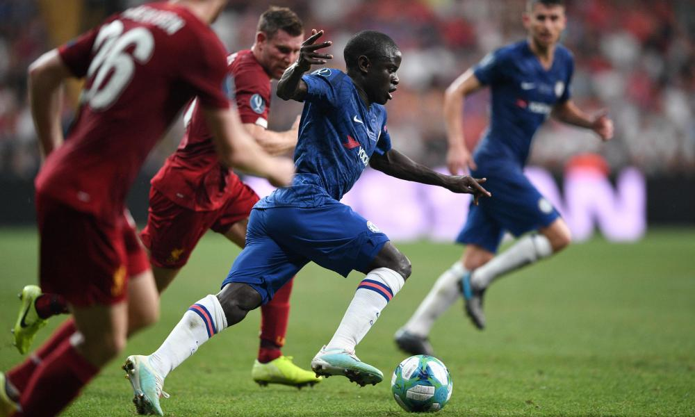 N'Golo Kanté was outstanding in the first half for Chelsea.
