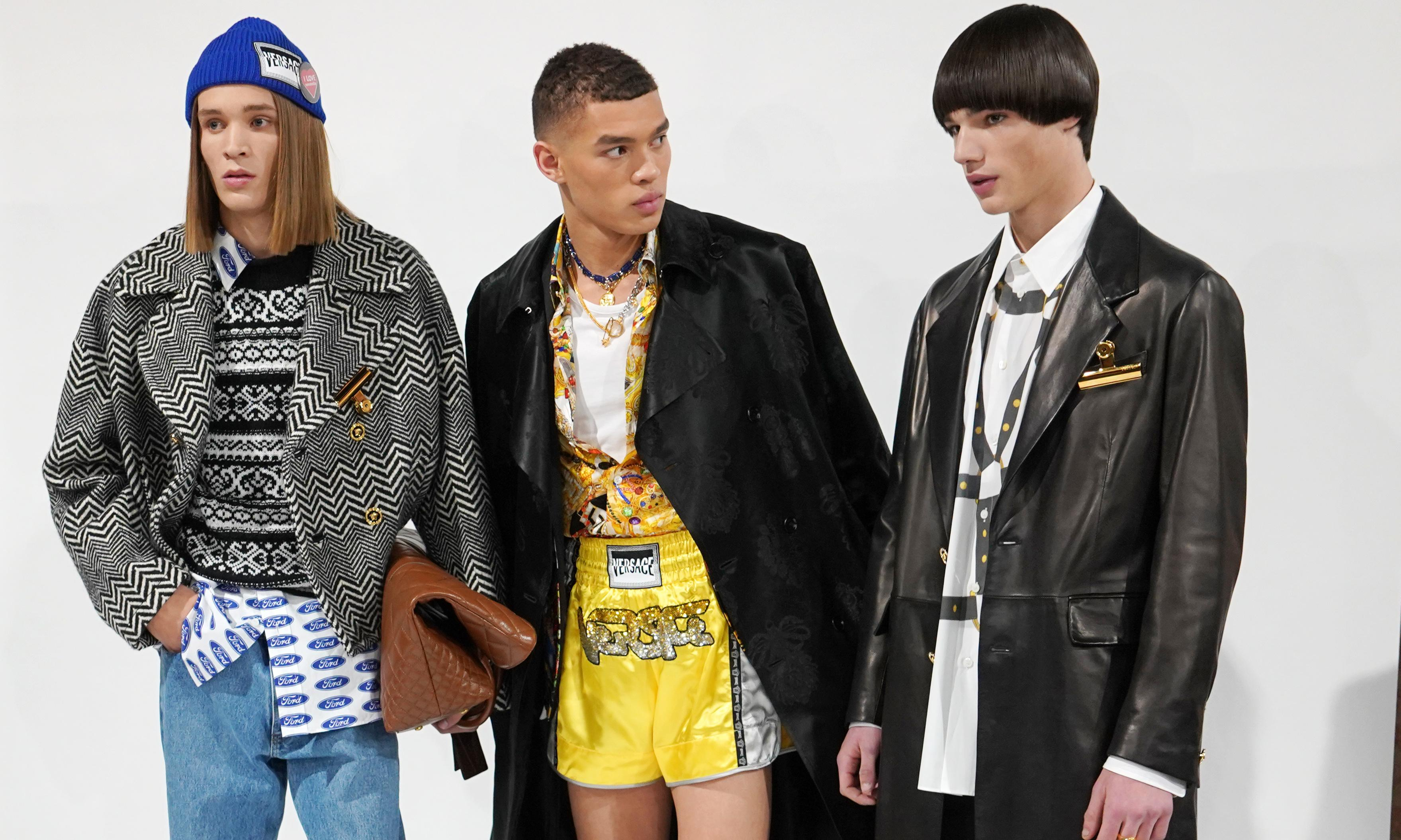 Menswear evolves in new ways at Versace and Marni in Milan