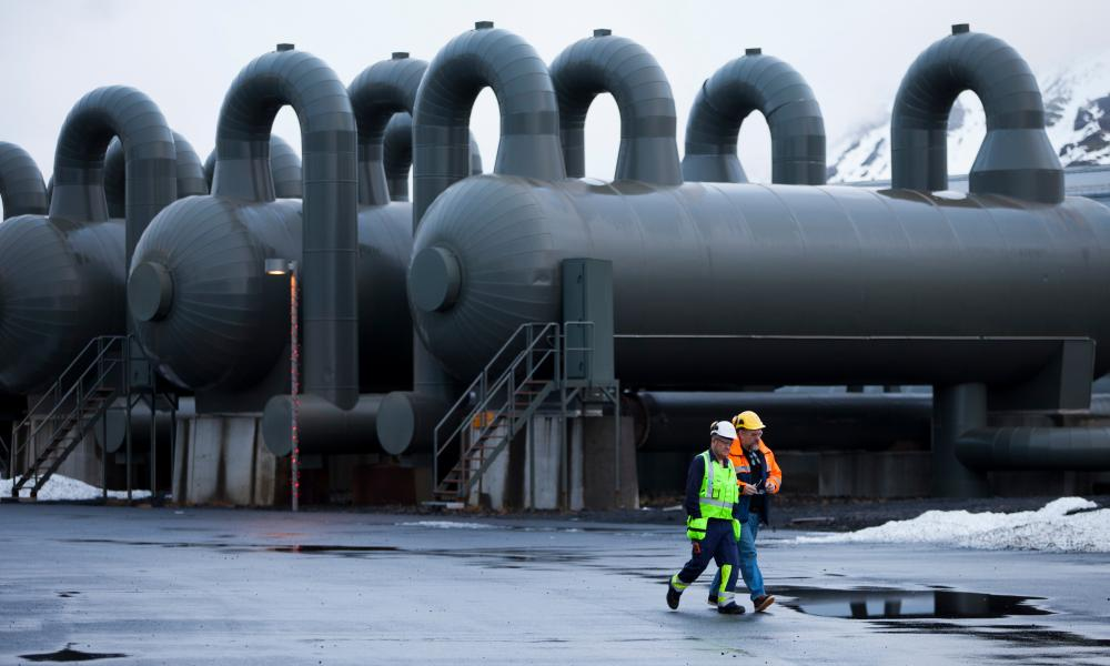 The world's biggest carbon capture machine has been switched on in Iceland.