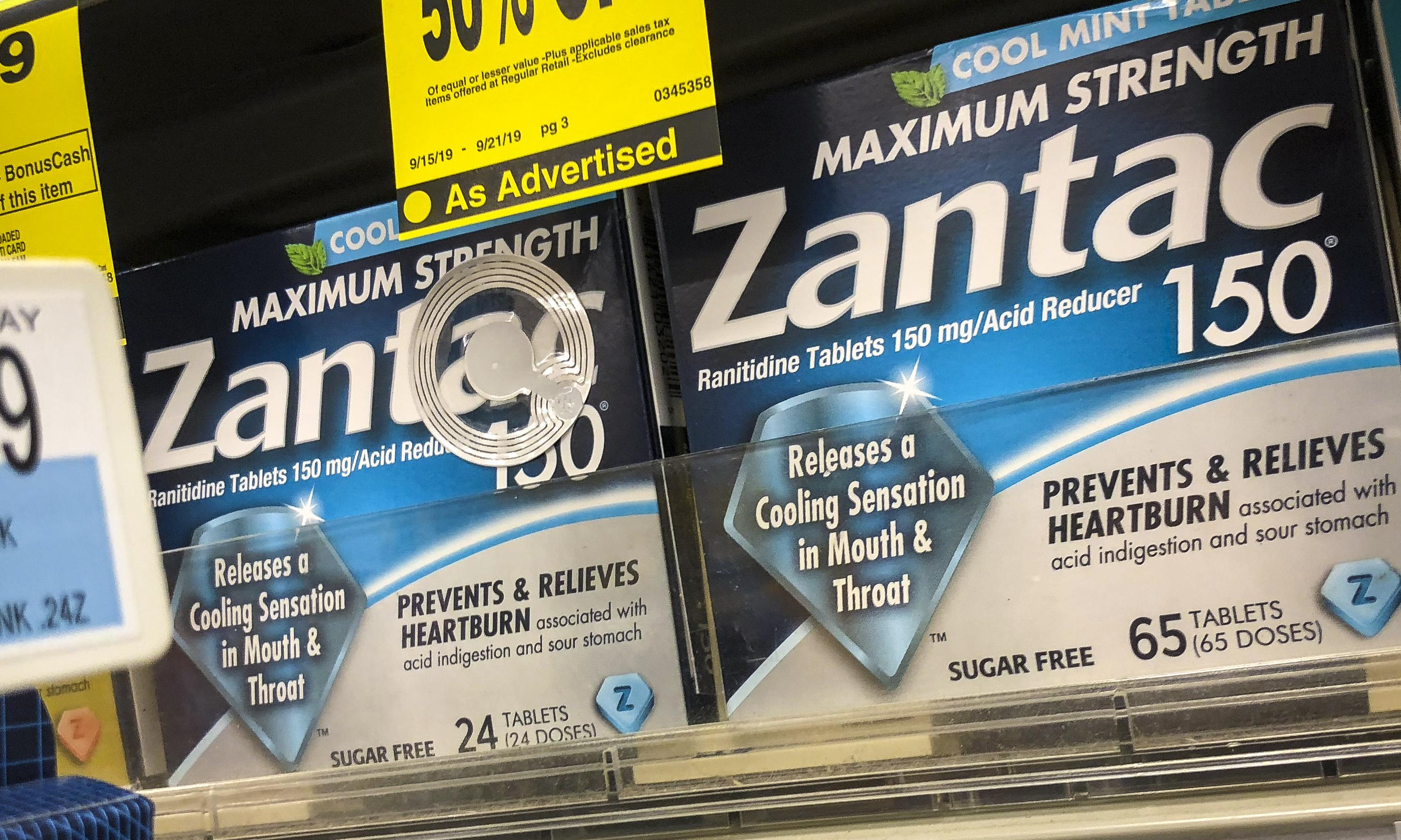 Zantac in global recall over 'unacceptable' levels of potential carcinogen