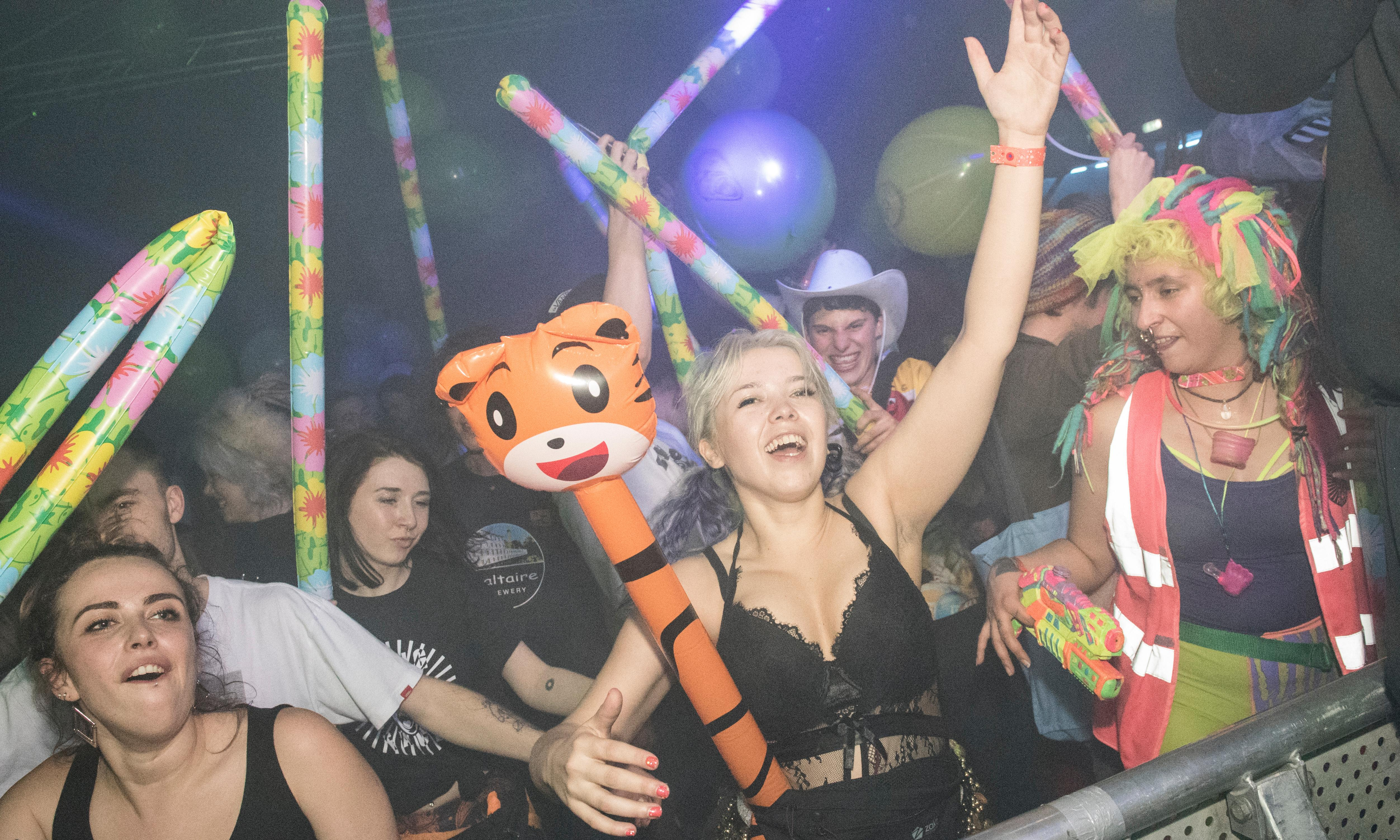 Lasers, robots and DJ Lara Croft's Dentist: the rave lunacy of Bang Face