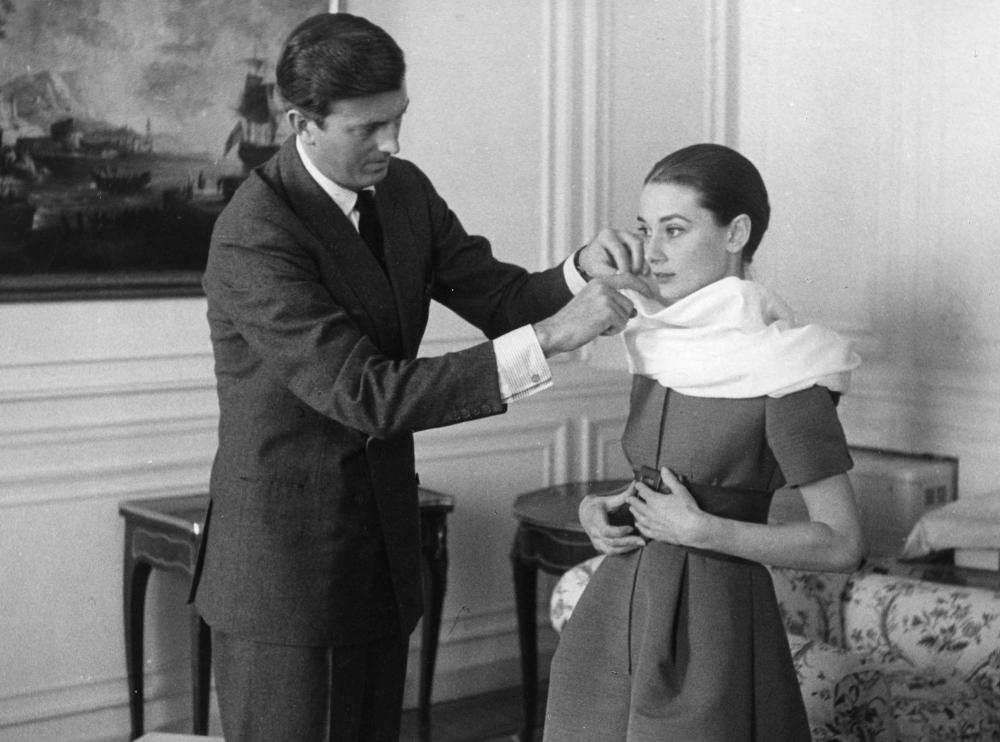 Hubert Givenchy with Audrey Hepburn