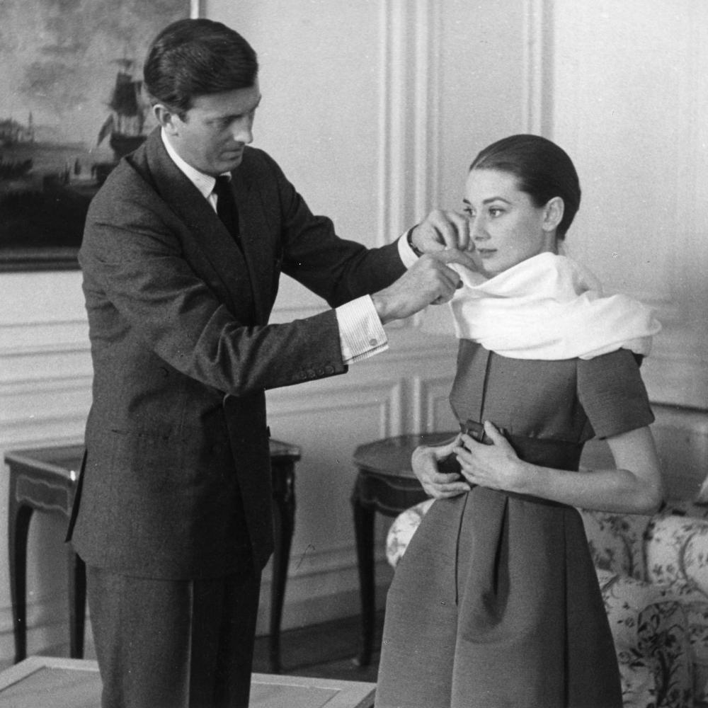 Givenchy dressing Audrey Hepburn circa 1957.