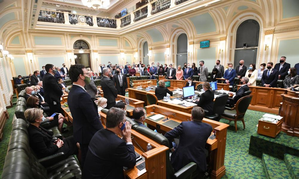 Queensland MPs during the vote for the Voluntary Assisted Dying Bill