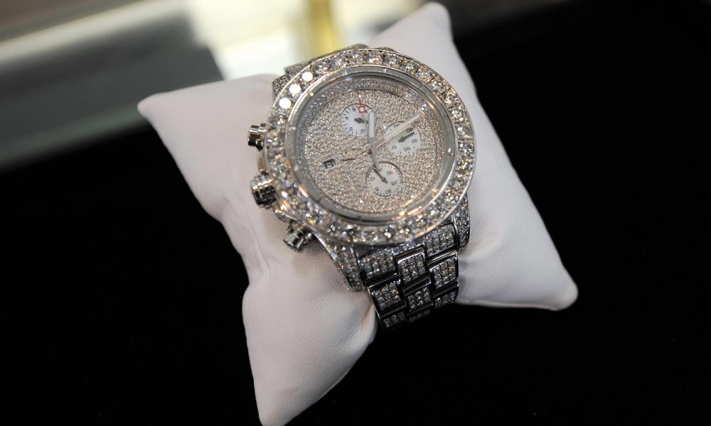 A Breitling watch with diamonds
