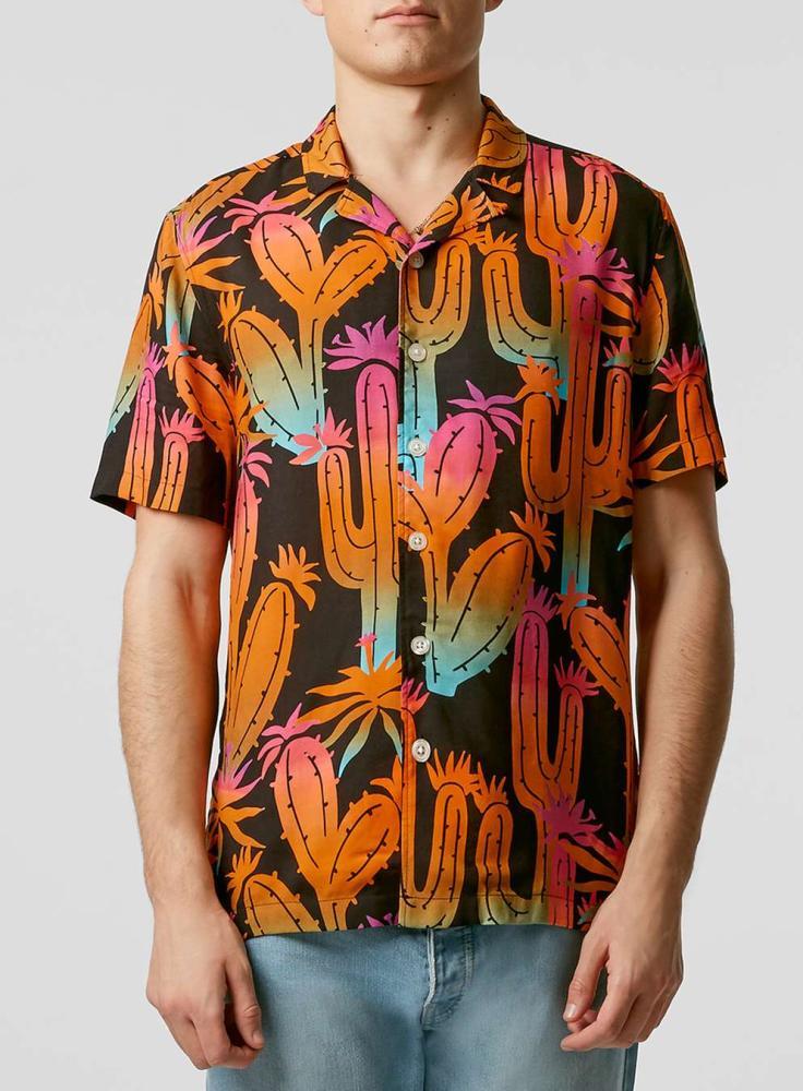 Topman's Cactus Print Short Sleeve Shirt.