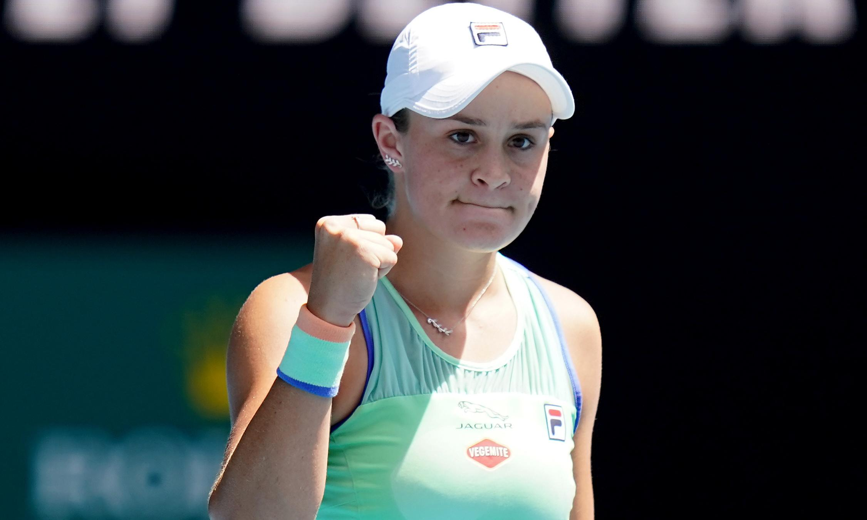 Ashleigh Barty reaches maiden Australian Open semi-final