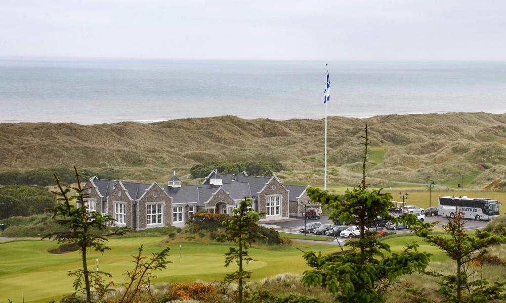 The Trump International Golf Links estate at Menie, near Balmedie.