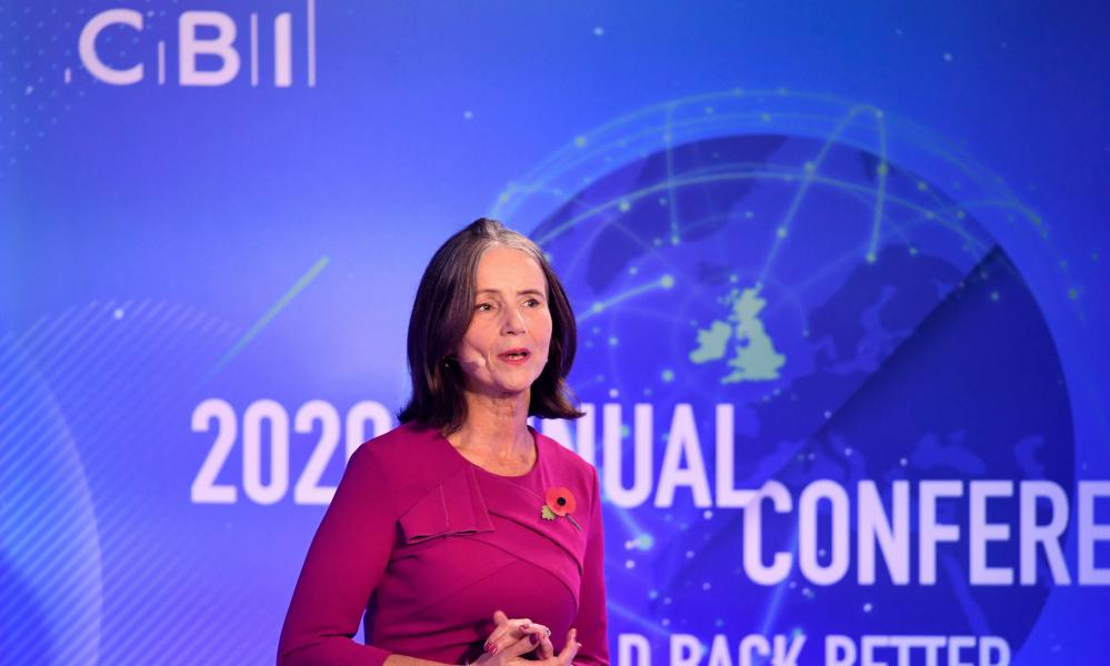 Dame Carolyn Fairbairn speaking at the CBI annual conference this morning.