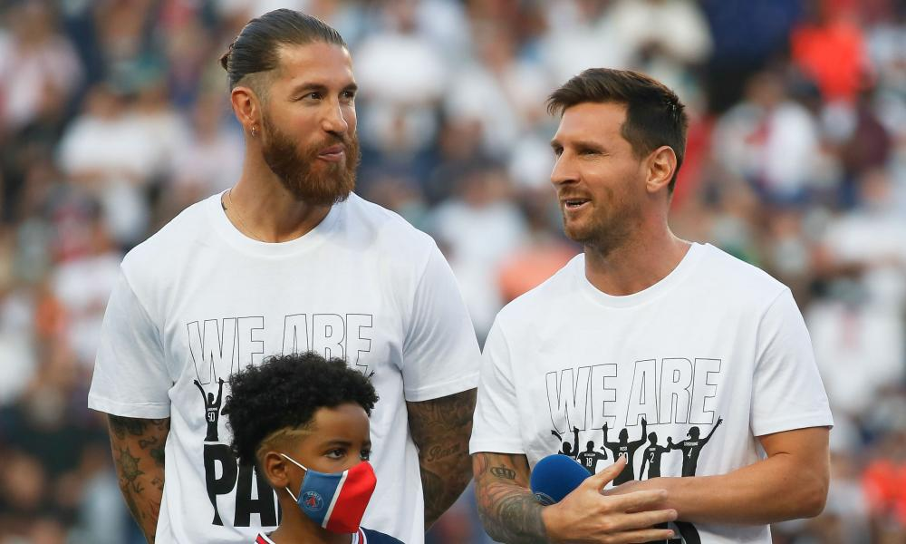 Sergio Ramos (left) and Lionel Messi (right)