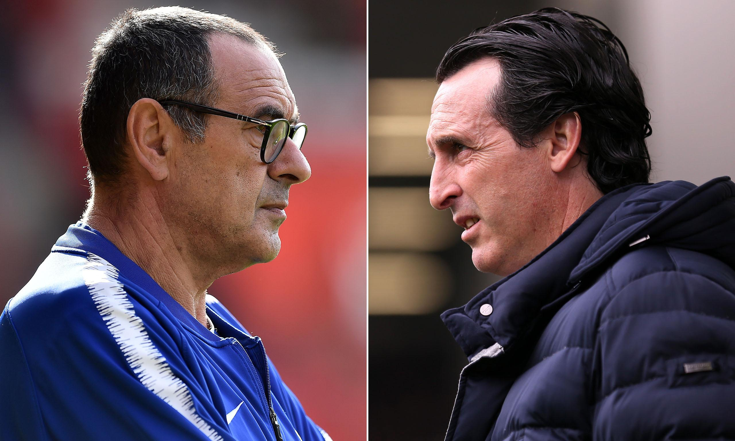 Baku or bust? The issues facing Sarri and Emery as final showdown looms