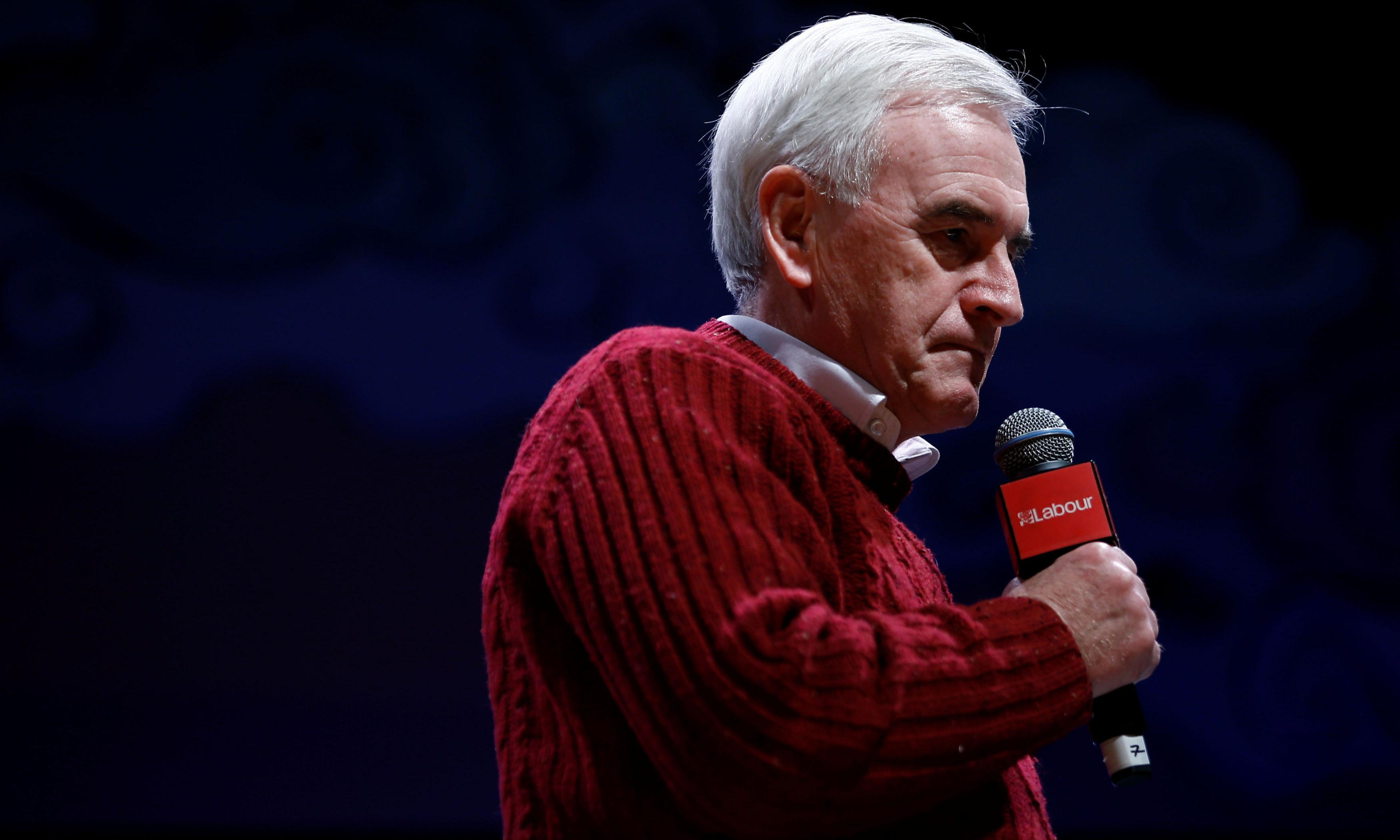 John McDonnell will not return to shadow cabinet