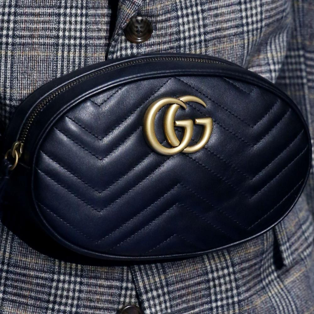 A bag at the Gucci show