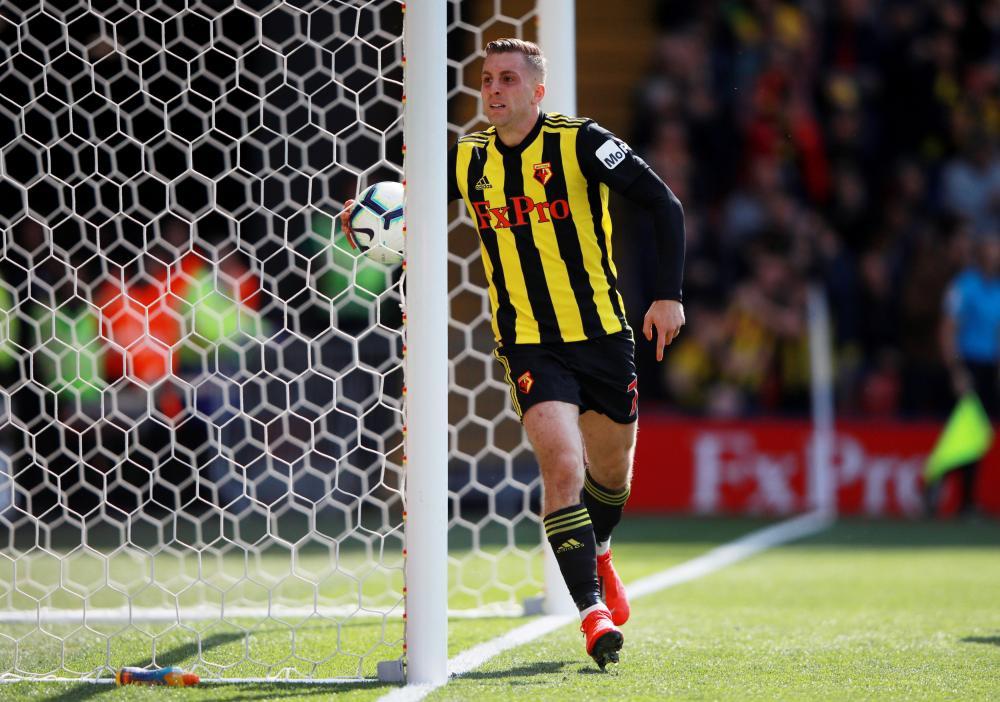 Deulofeu celebrates getting one back for Watford.