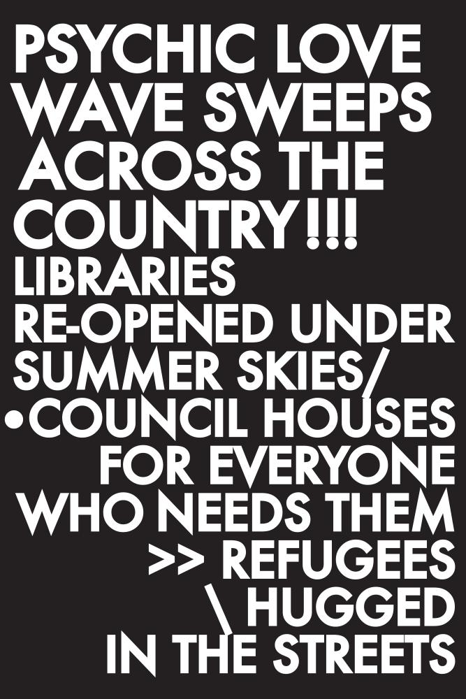 Election Poem Love Wave poster by Robert Montgomery.