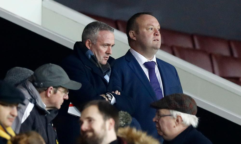 New Stoke City manager Paul Lambert in the stands