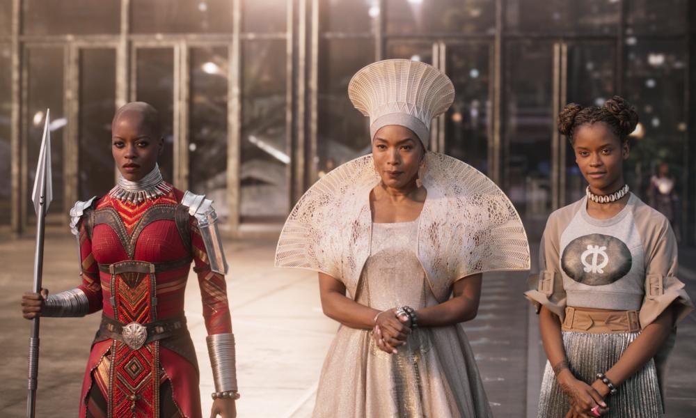 Game changers: Ayo (Florence Kasumba), Ramonda (Angela Bassett) and Shuri (Leititia Wright) in Black Panther.