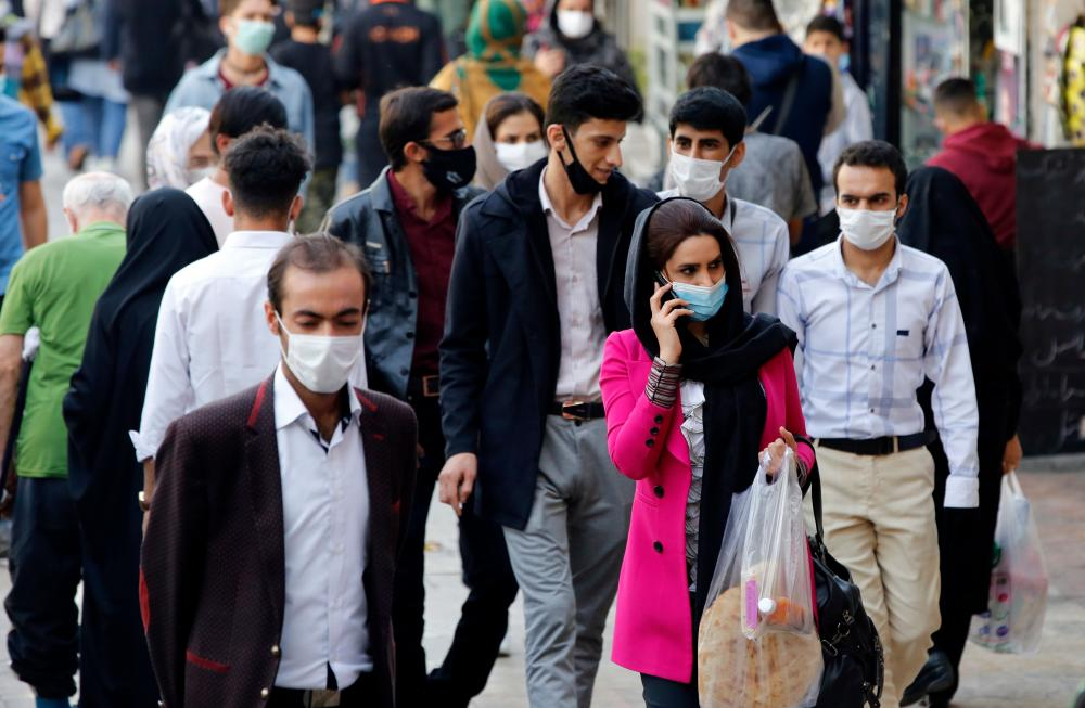 People at the Tajrish bazaar in Tehran.