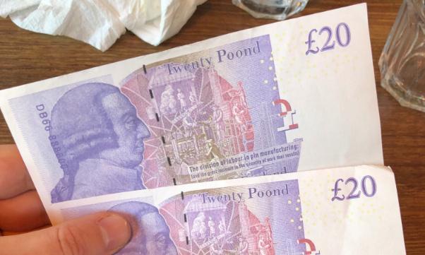 Twenty Poond notes: investigation after ATM dispenses toy money