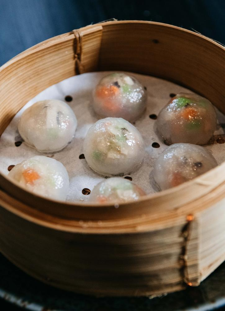 Vow Foods' 'Kangaroo crystal dumpling', with a filling grown from kangaroo cell cultures