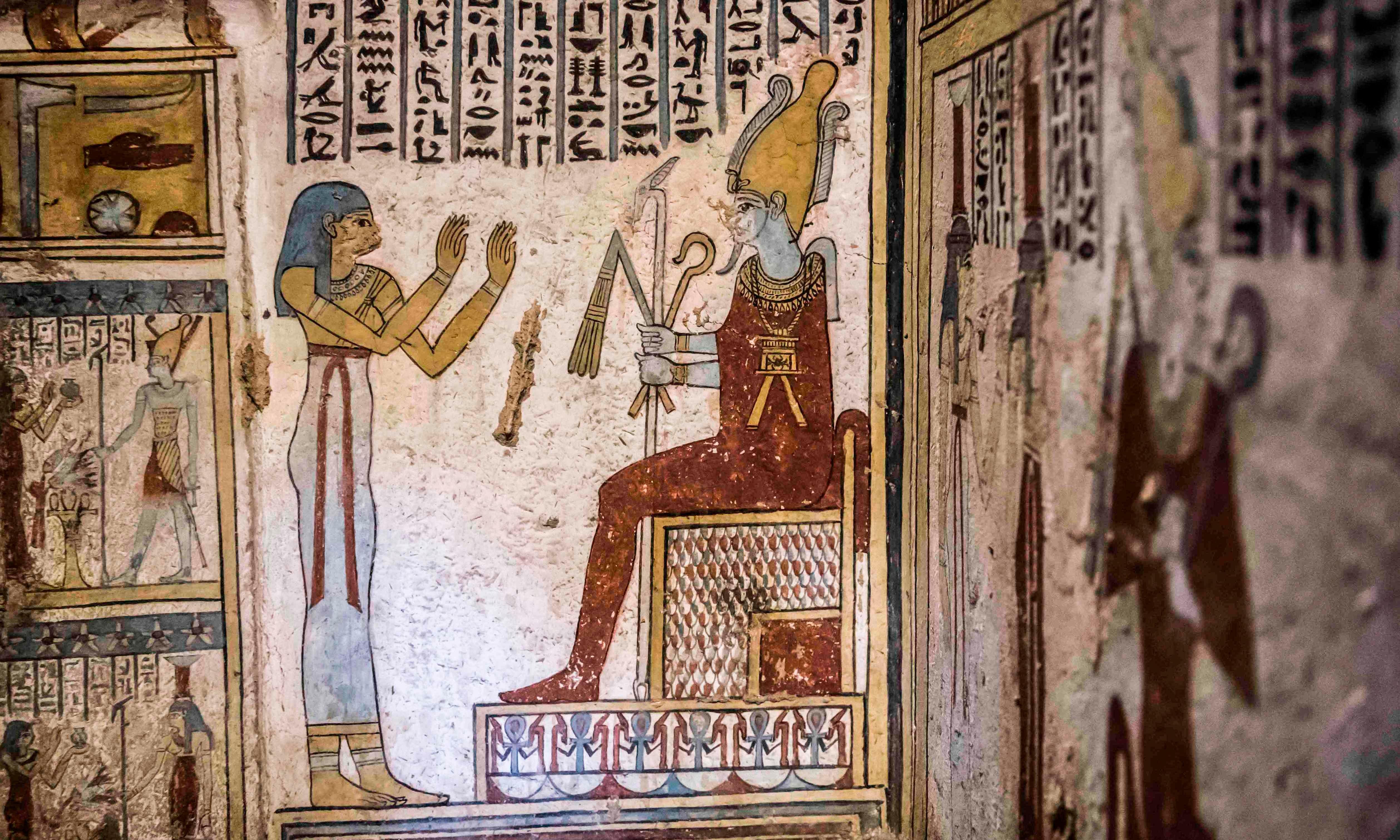 Mummified mice found in 'beautiful, colourful' Egyptian tomb