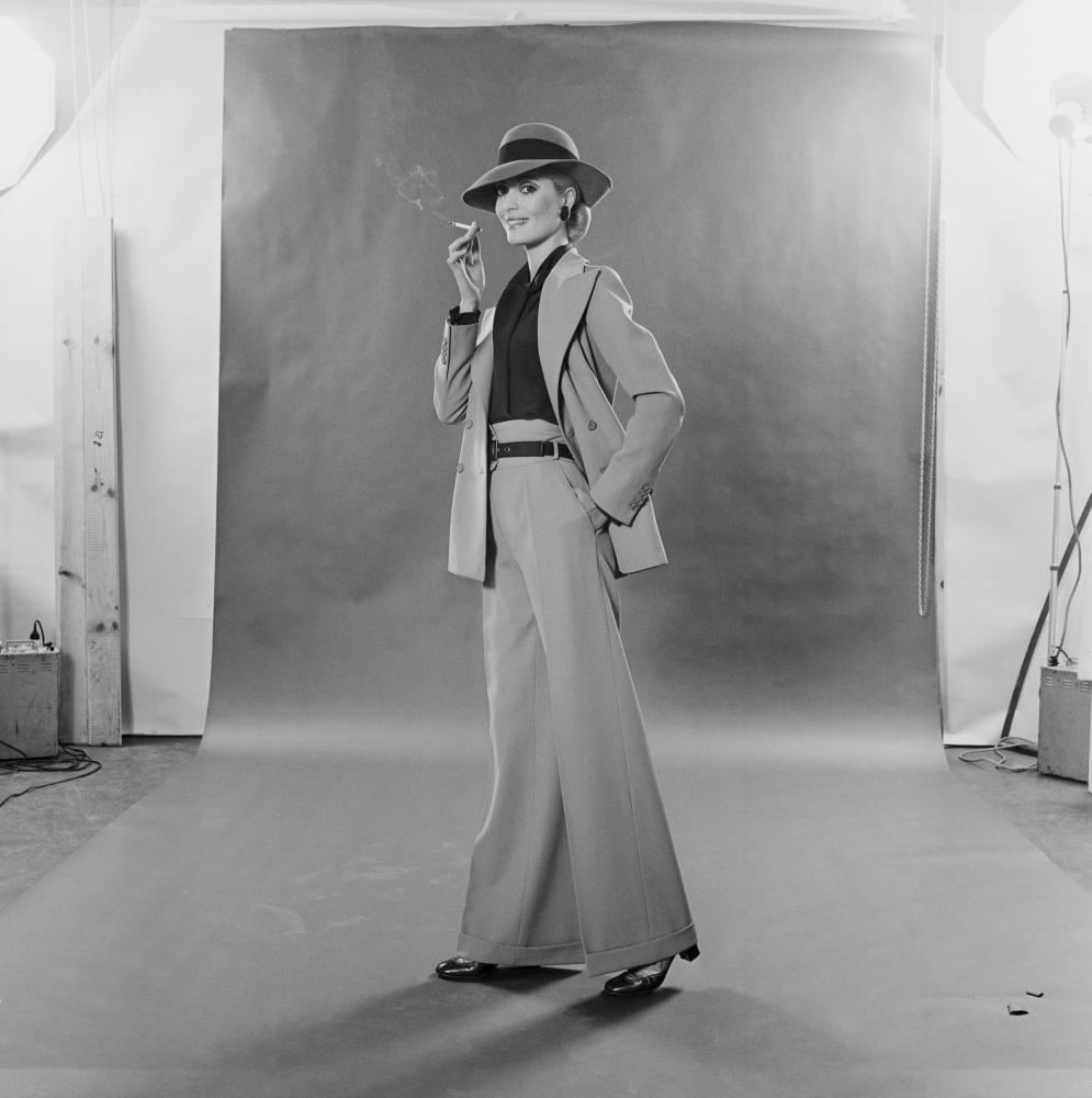 YSL Trouser Suit French fashion - a trouser suit by Yves Saint Laurent, 1970