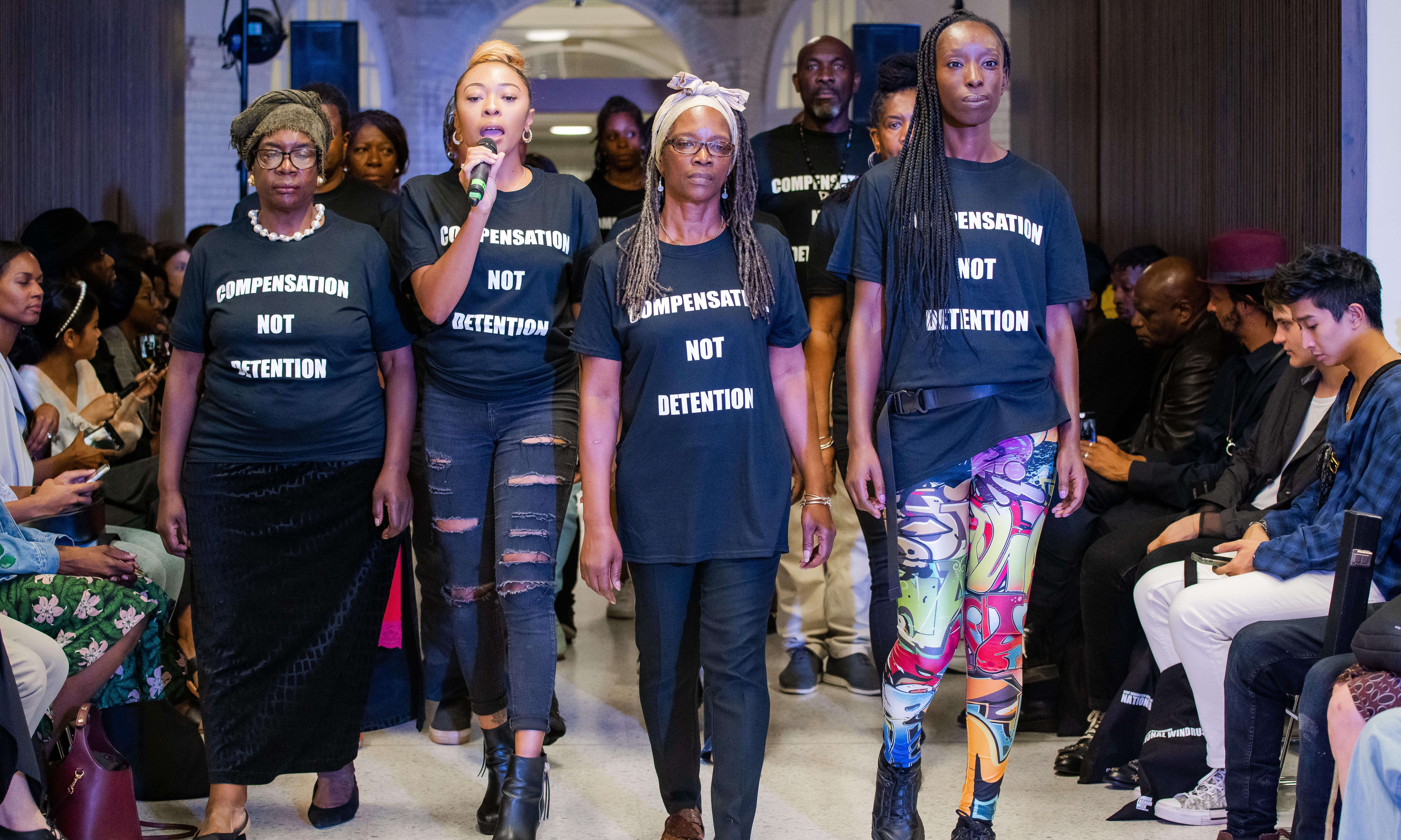 Windrush campaigners bring a political edge to fashion week