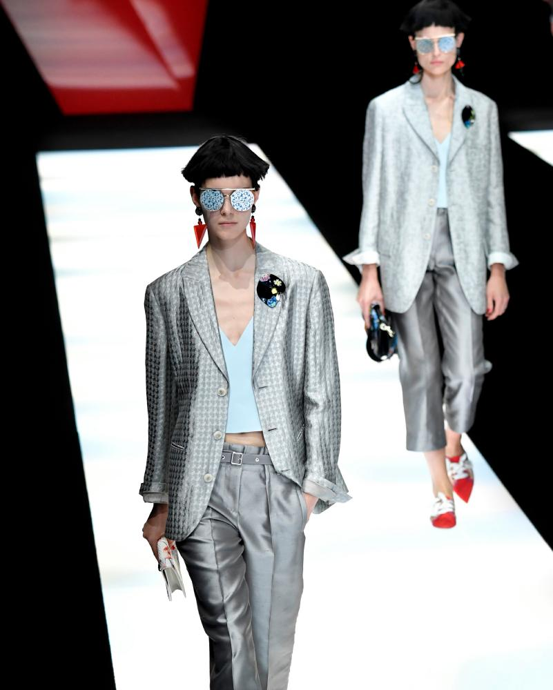 Tailored suits on the catwalk