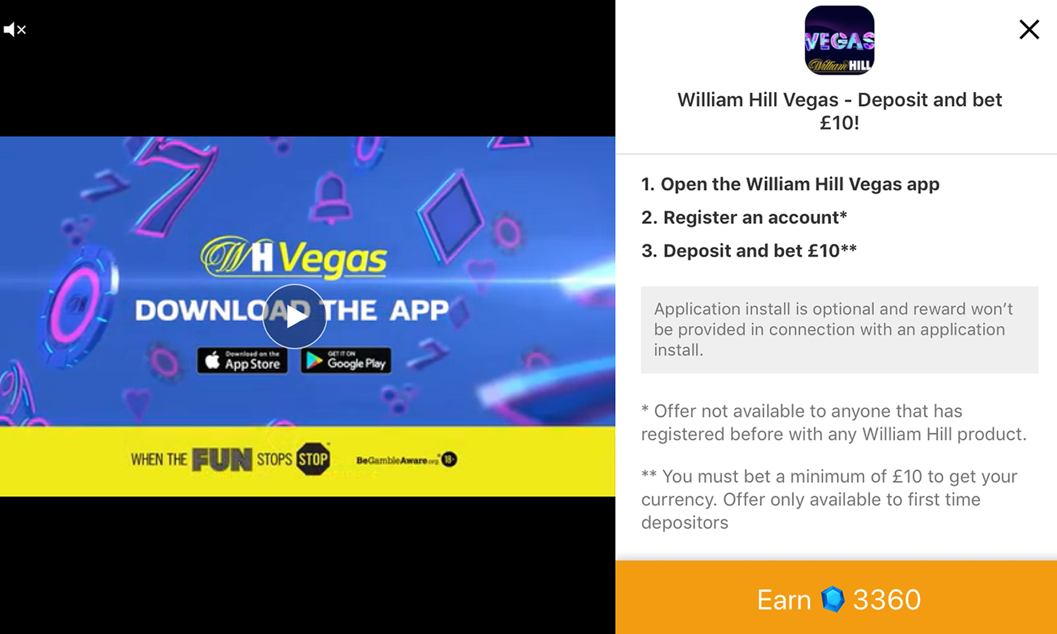William Hill and Paddy Power ads appeared in app aimed at children