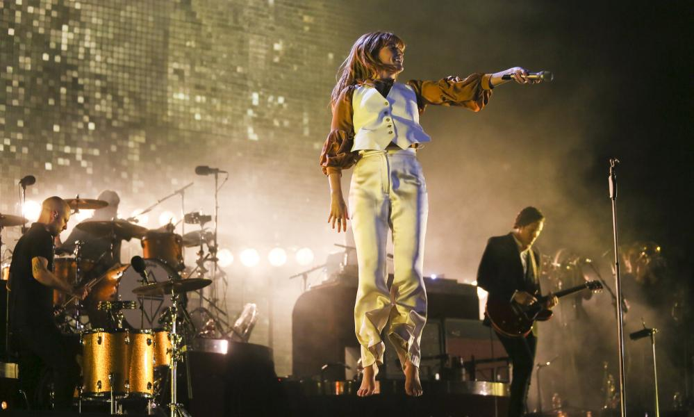 Florence and the Machine perform at the Austin City Limits music festival in 2015.