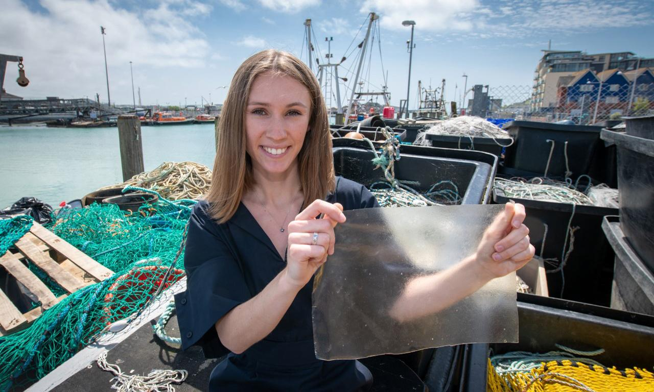 Plastic substitute from fish waste hauls in Dyson award for UK designer