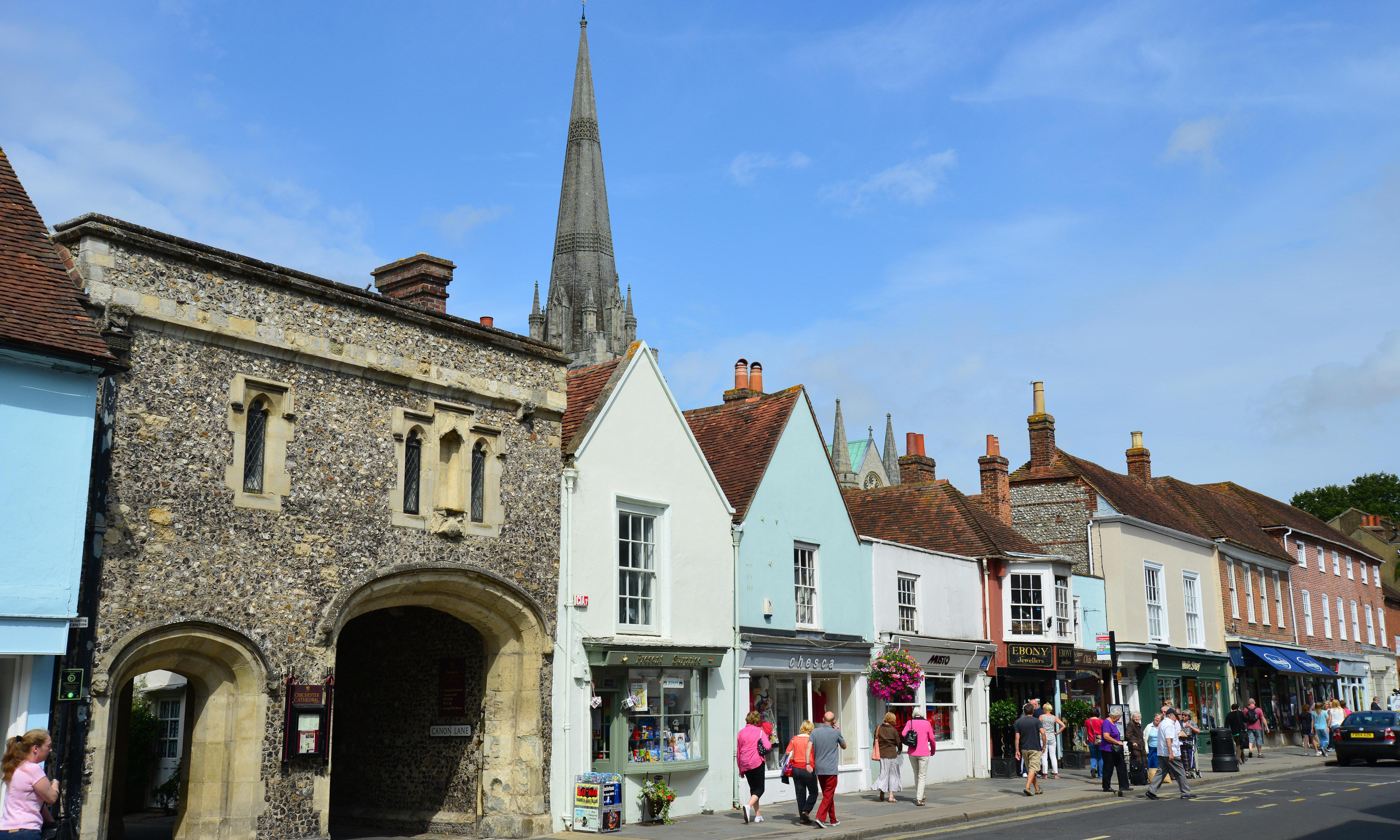 Let's move to Chichester, West Sussex: it punches well above its weight