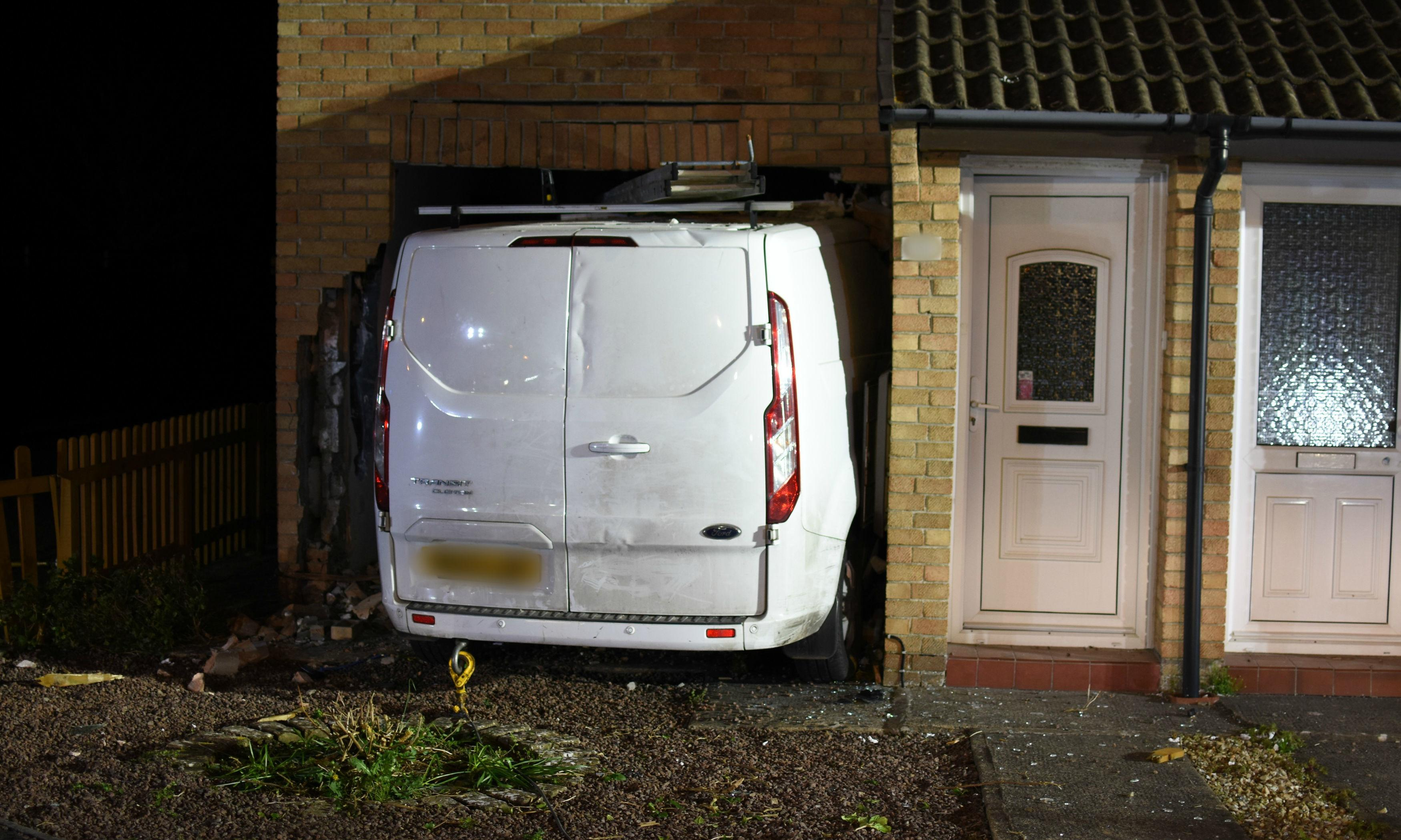 Woman who drove van into house convicted over pensioner's death