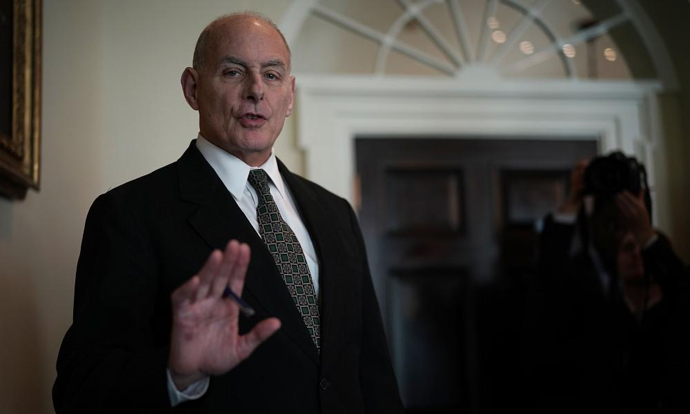 John Kelly, Trump's chief of staff, initially defended former aide Rob Porter.