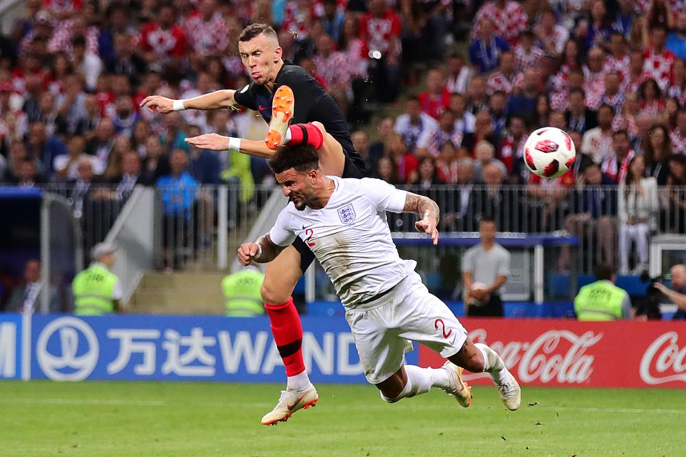 Ivan Perisic equalises for Croatia with a contentiously high boot.