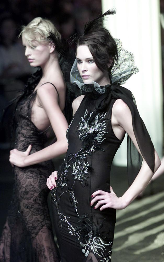Emanuel Ungaro's autumn-winter haute couture collection in Paris, in 2001.