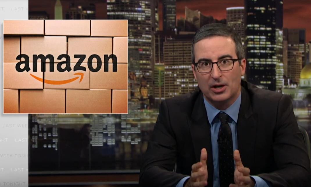 John Oliver on Amazon: 'A system that squeezes people lowest on the ladder'