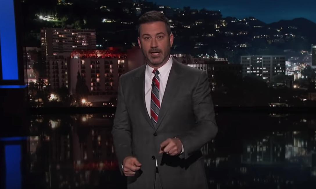Jimmy Kimmel: 'Our president is finally feuding with a dog'