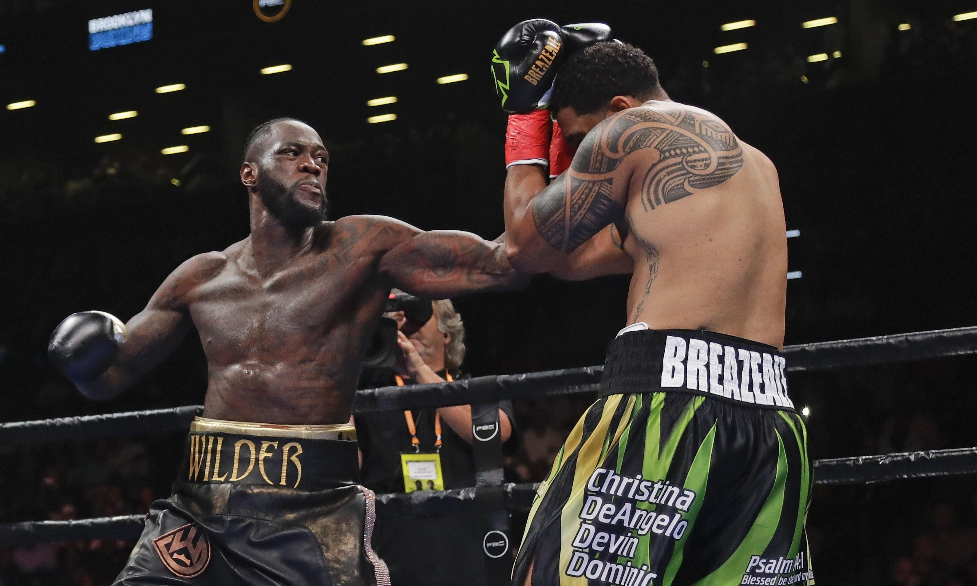 Deontay Wilder's right hand is firmer than plans to fight Joshua