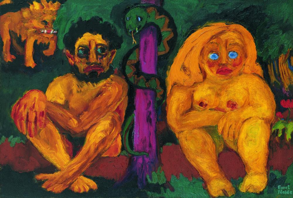Fierce and lurid … Emil Nolde's Paradise Lost.