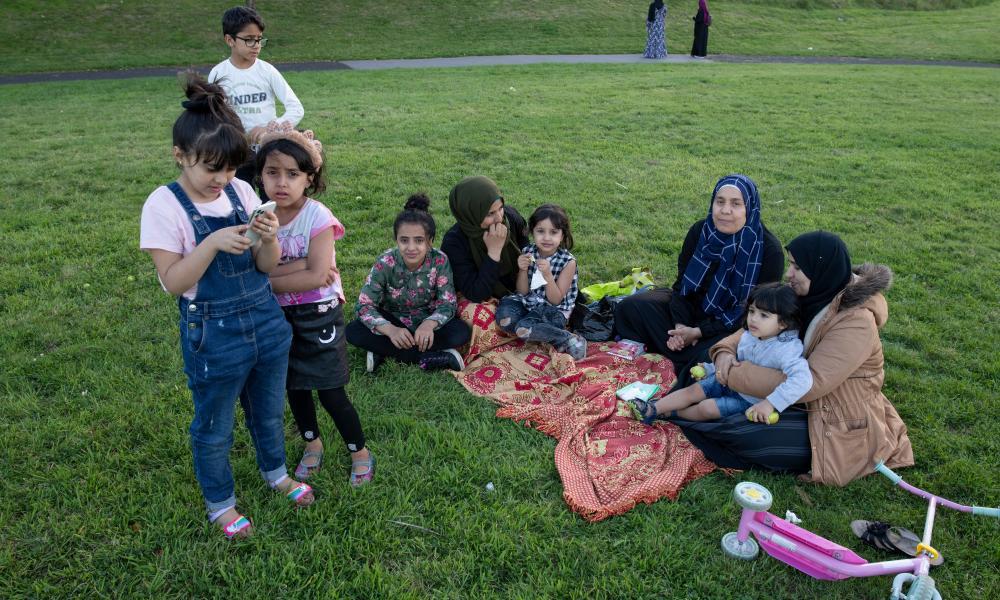 A family at Balsall Heath Park.