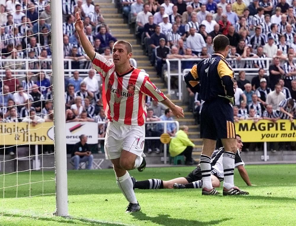 Kevin Phillips celebrates after scoring against Newcastle in 2001.