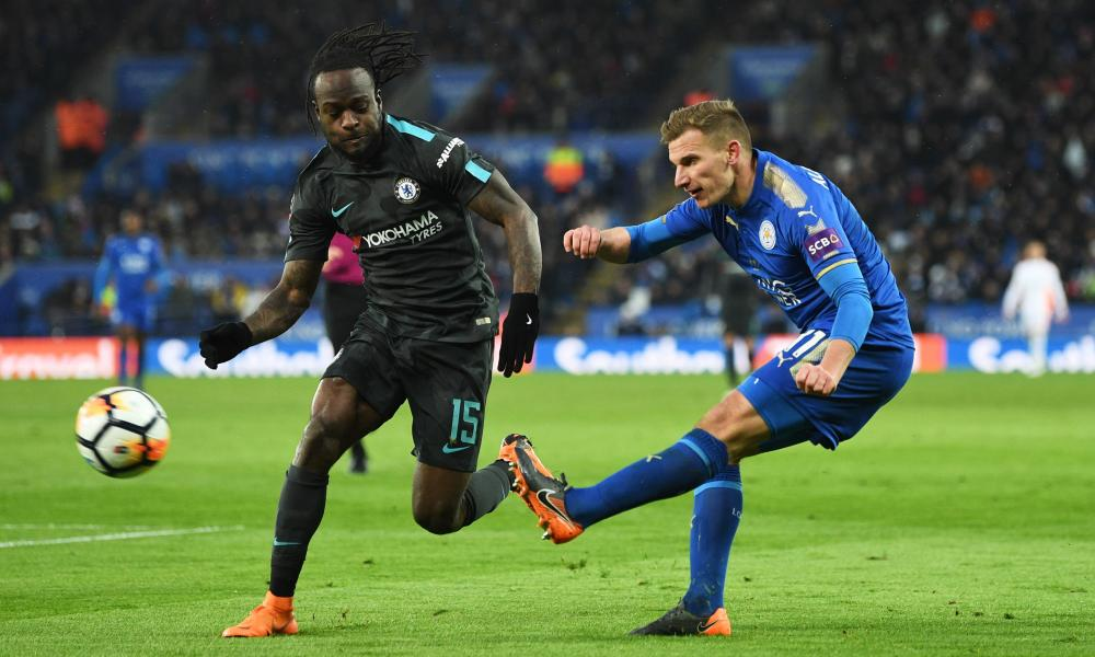 Marc Albrighton impressed against Chelsea before he was substituted late in the game.